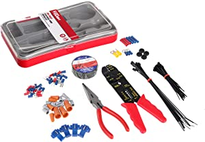 Hyper Tough 99 Piece Electrical Repair Set with Storage Case TD2163TA