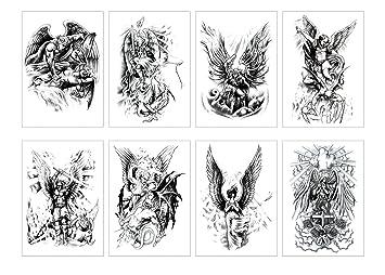 Amazon Com Spestyle 8pcs Package Mix Angel Wings Tattoo Sticker For Women Waterproof Angel Temporary Tattoos Body Art Fake Tattoo Beauty