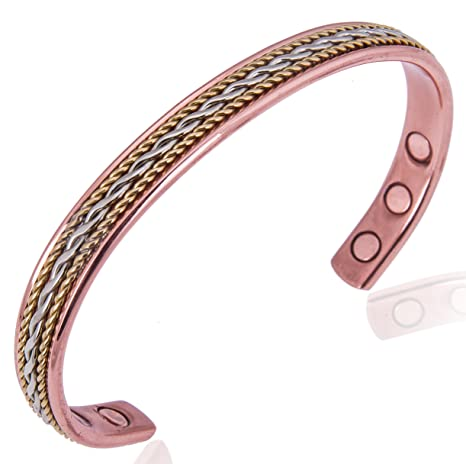 Pure Copper Bracelet for Arthritis, Carpal Tunnel, and Joint Pain Relief for Women - 15,000 Gauss For Maximum Treatment - Natural Healing For Women Earth Therapy