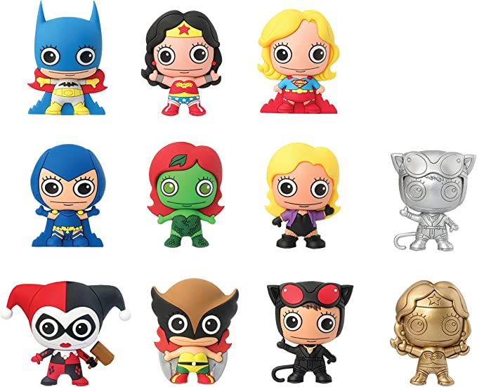DC Comics Women of DC Universe 3D Foam Llavero Mystery Pack (1 Random): Amazon.es: Juguetes y juegos
