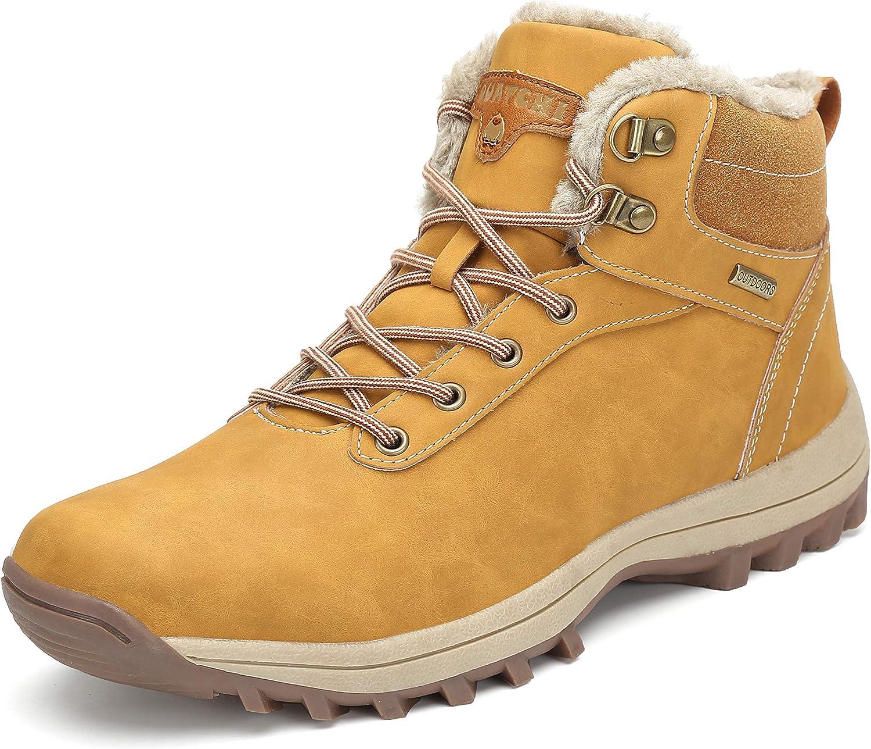 Pastaza Hombre Mujer Botas de Nieve Senderismo Impermeables Deportes Trekking Zapatos Invierno Forro Piel Sneakers