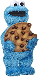Sesame Street Peekaboo Cookie Monster Talking 13-Inch Plush Toy for Toddlers, Kids 18 Months & Up