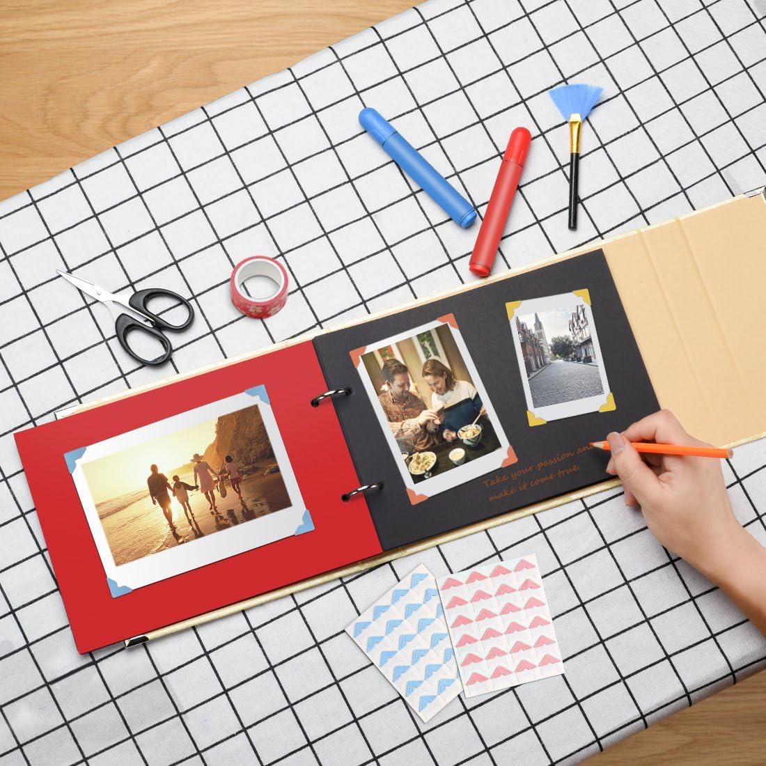 Stickers id/ée cadeau Cadeau f/ête des m/ères Beige Scrapbook Journal cr/éatif avec gravure en forme de c/œur Firbon Album Photo A4 DIY pour Photos