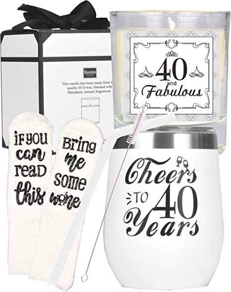 Amazon Com 40th Birthday Gifts For Women 40th Birthday 40th Birthday Tumbler 40th Birthday Decorations For Women Gifts For 40 Year Old Woman Turning 40 Year Old Birthday Gifts Ideas For Women Kitchen