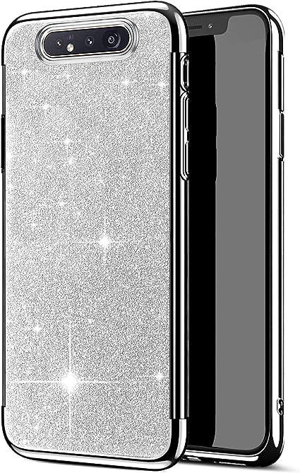 JAWSEU Funda Compatible con Samsung Galaxy A80/A90, Brillante ...