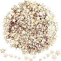 400 Piezas Mini Estrellas de Madera Rodajas Tamaño
