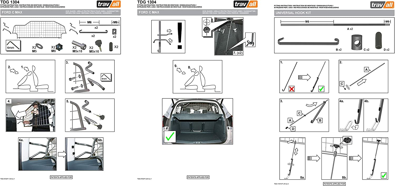 Vehicle-Specific Dog Guard Travall Guard TDG1304