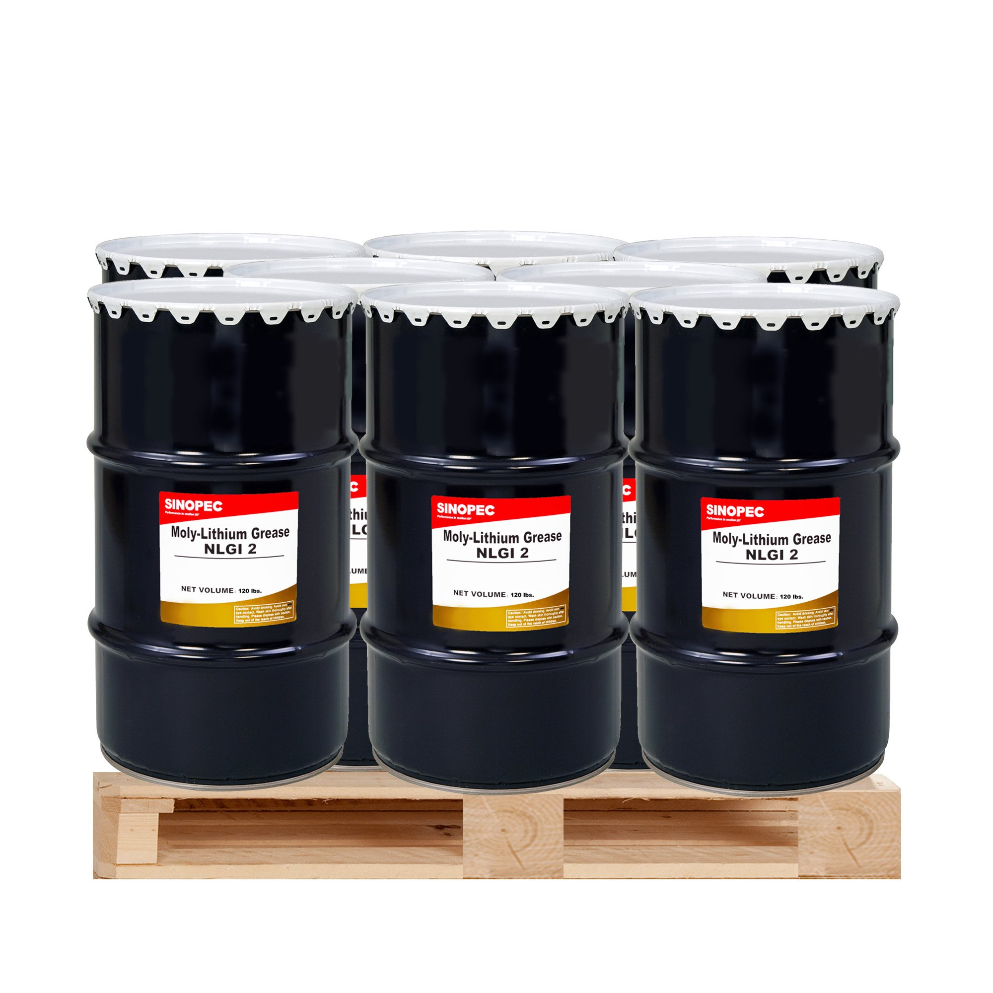 (9) Kegs Moly Extreme Pressure Lithium Grease #2 - 120LB. (16 Gallon) by Sinopec