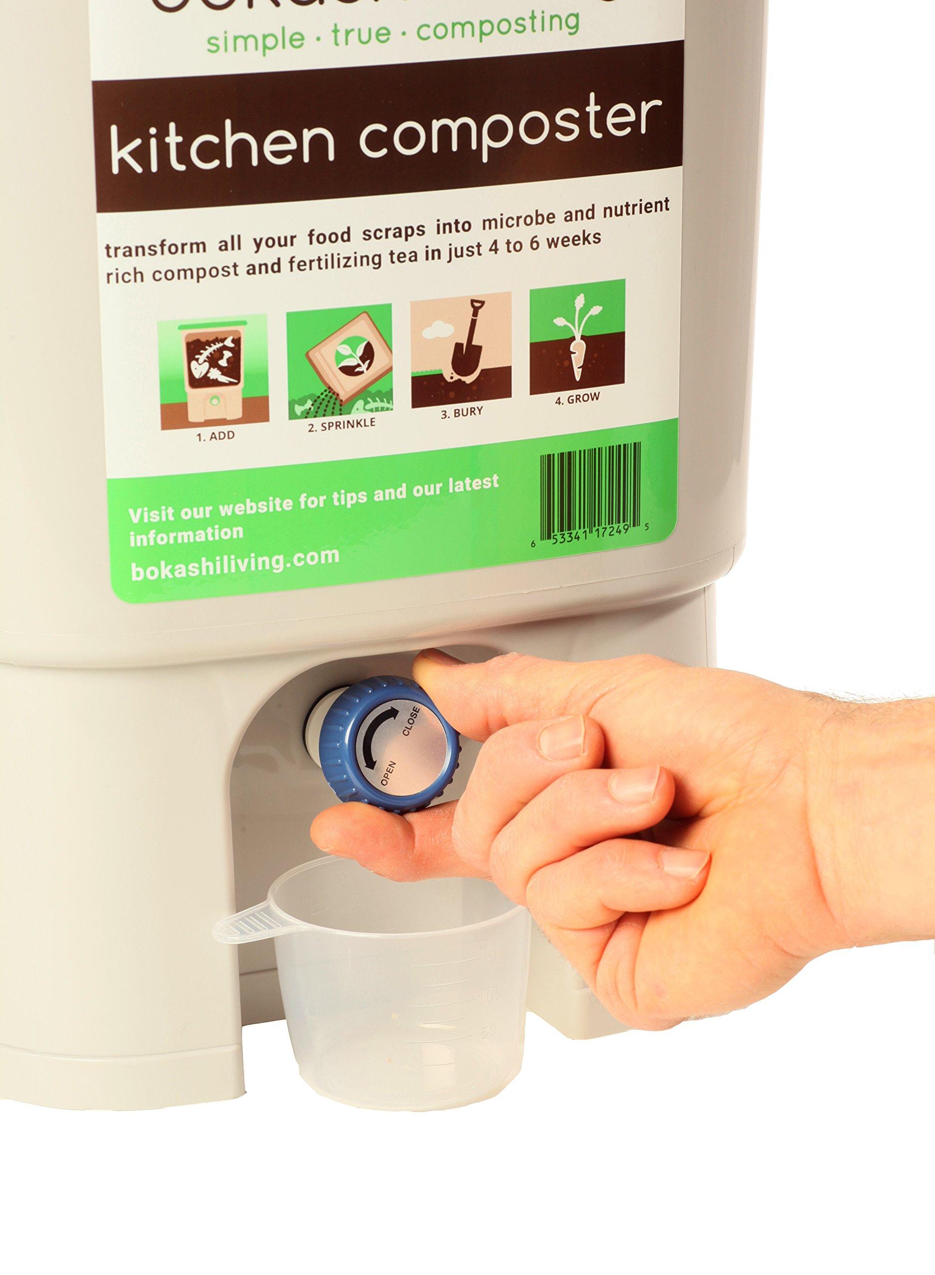 Bokashi Composting Starter Kit Includes 2 Bokashi Bins, 3.5lbs of Bokashi Bran and Full Instructions