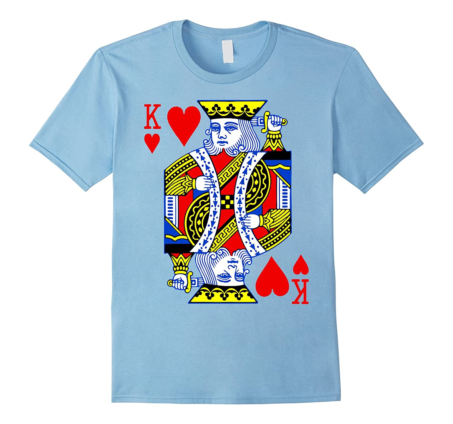 Valentines Day Shirt Couples King Queen Of Hearts Deck Cards Anz