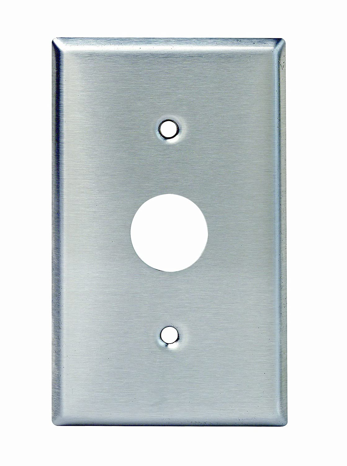 Leviton 84071-40 1-Gang Key Lock Power Switch Device Switch Wallplate, Standard Size, Spanner Screws and Tool, Device Mount (Stainless Steel)