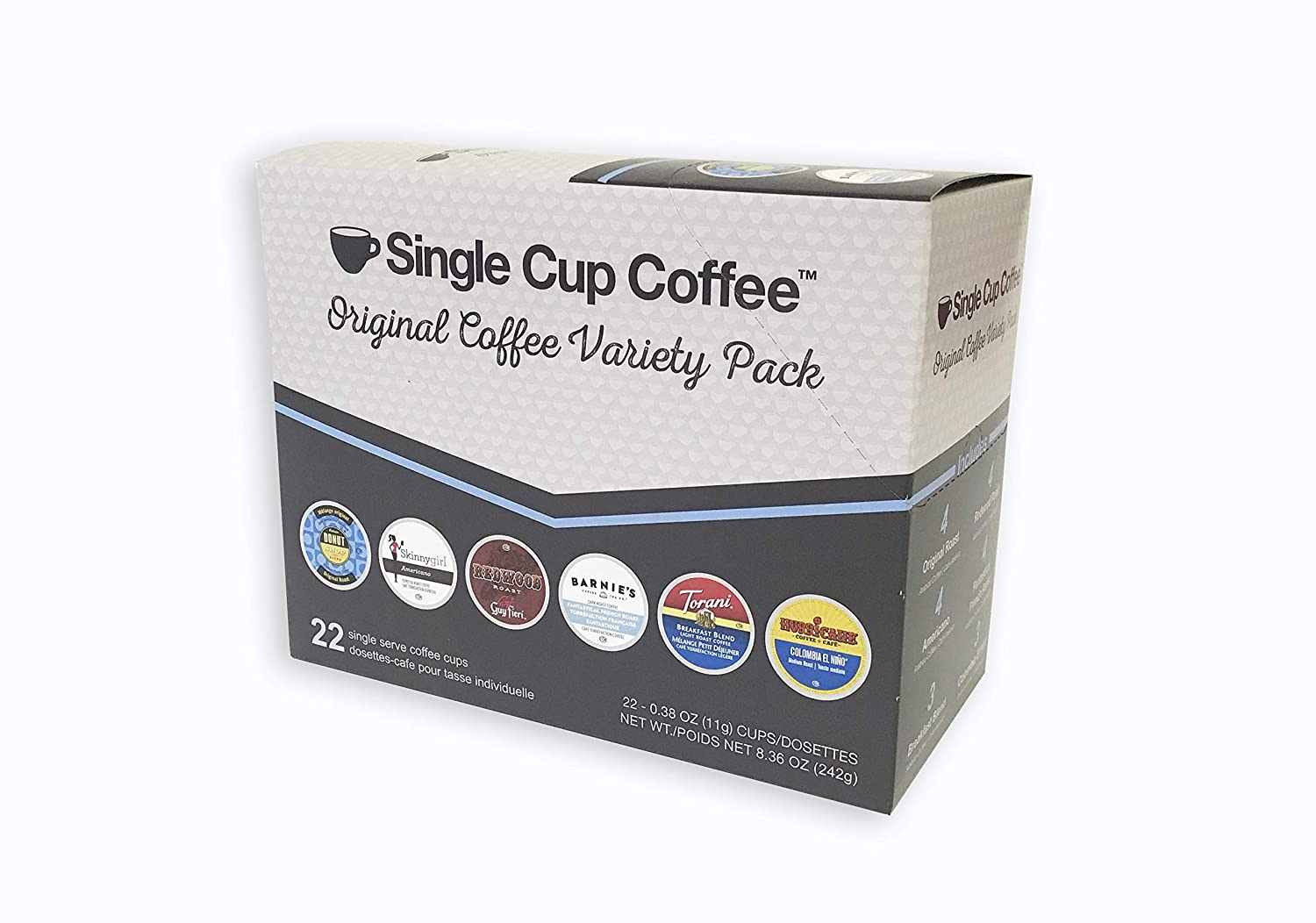 Single Cup Coffee Original Coffee Variety Pack, 22 Count