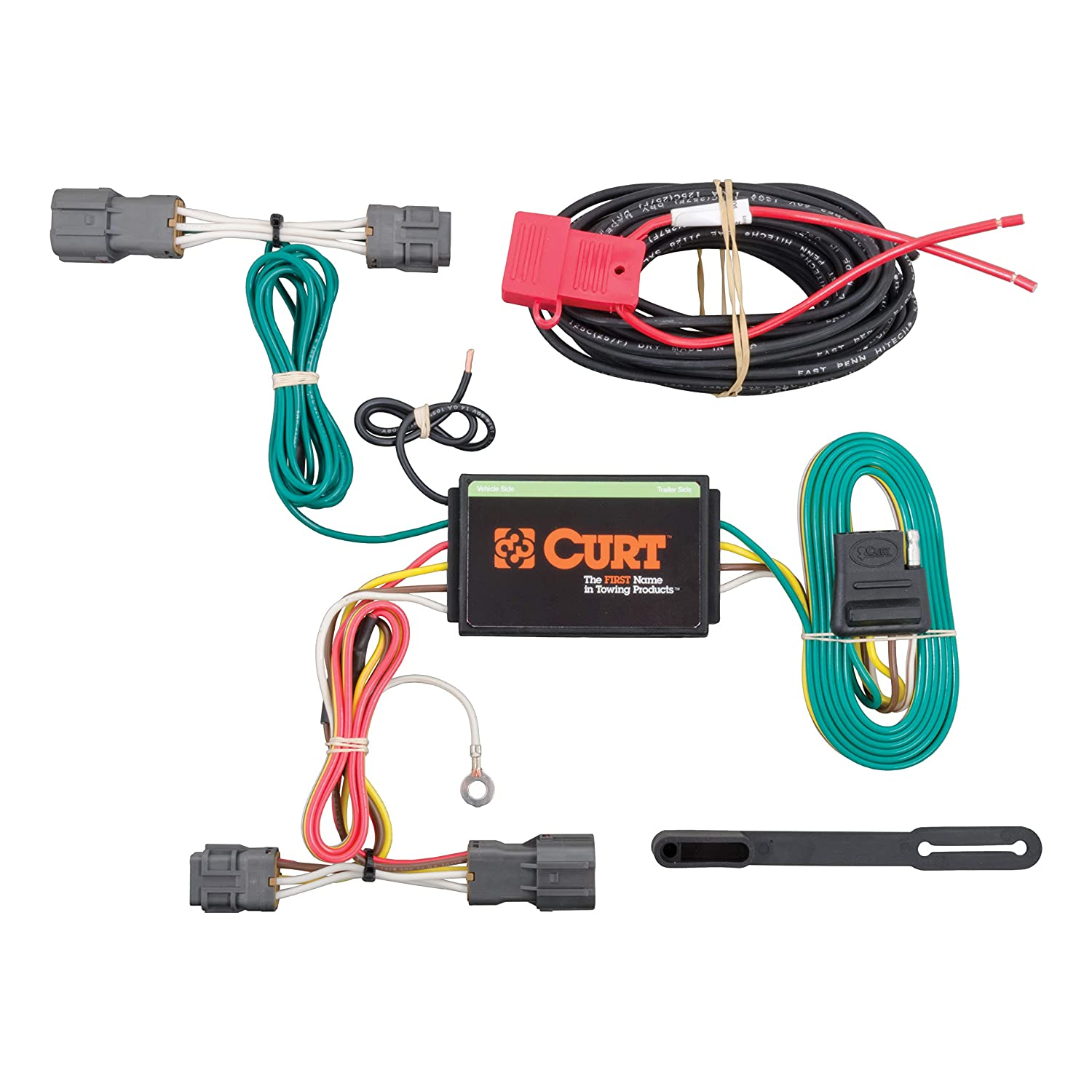 CURT 56220 Vehicle-Side Custom 4-Pin Trailer Wiring Harness for Select on trailer plugs, trailer mounting brackets, trailer fuses, trailer hitch harness, trailer generator, trailer brakes,