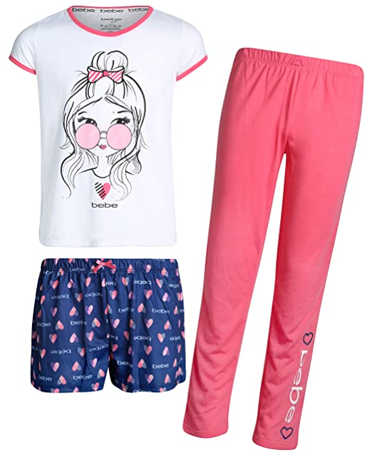 Amazon.com: bebe - Pijama de 3 piezas para niña con camiseta ...