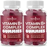 Vitamin B Complex Gummies by NEW AGE – with Vitamin B3, B5, B6, B7, B9 & B12 – with Biotin, Folic Acid & Vitamin C – Gluten-F