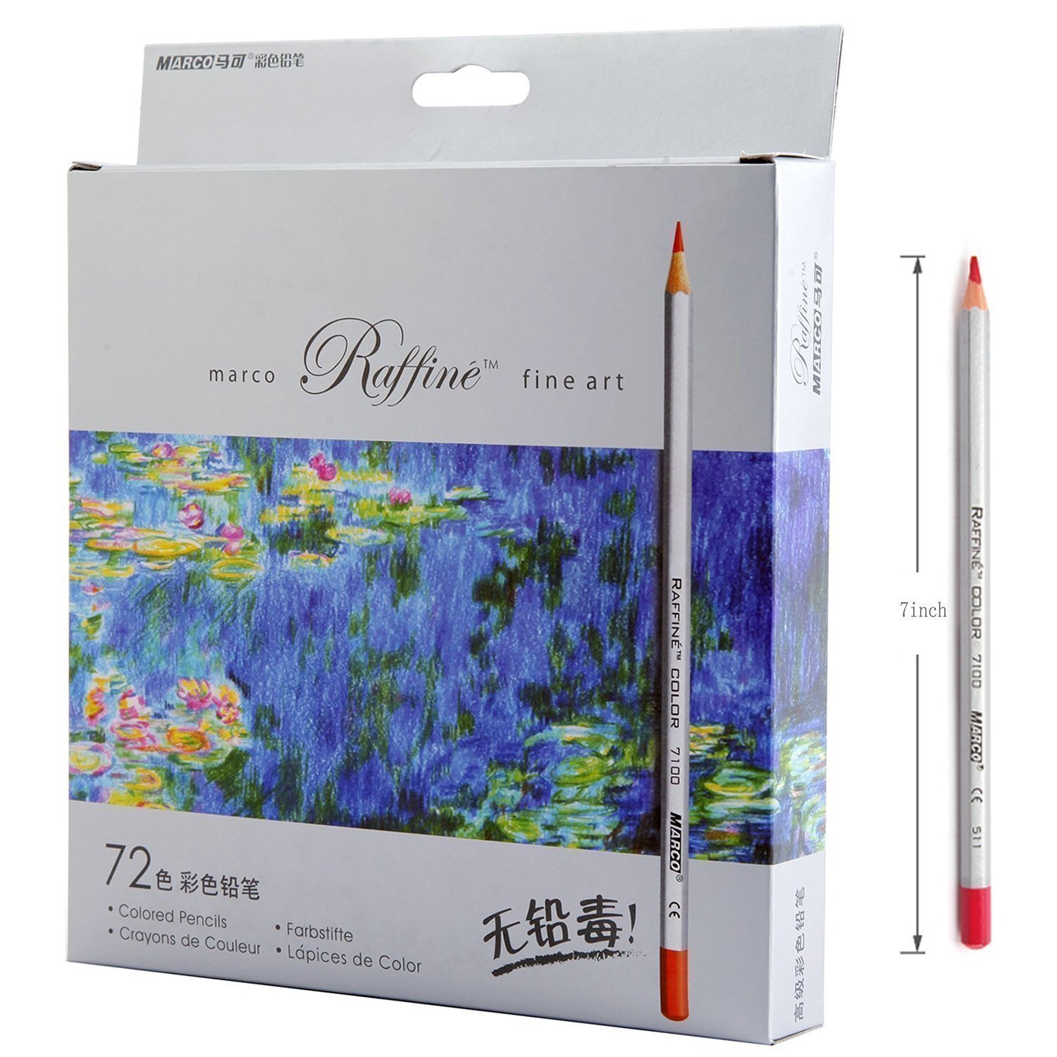Amazon Lanxivi 72 Marco Colored Pencils With Pen Pouch Set Color Professional Art Drawing For Artist Sketch Oil Base Office