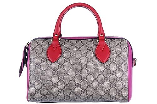 a706b508cb503 Gucci Handtasche Damen Tasche Damenhandtasche Fass Bag gg supreme beige