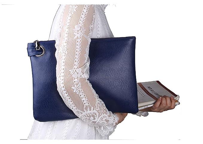 3b04f73e4 ZOONAI - Cartera de mano para mujer azul azul  Amazon.es  Ropa y accesorios
