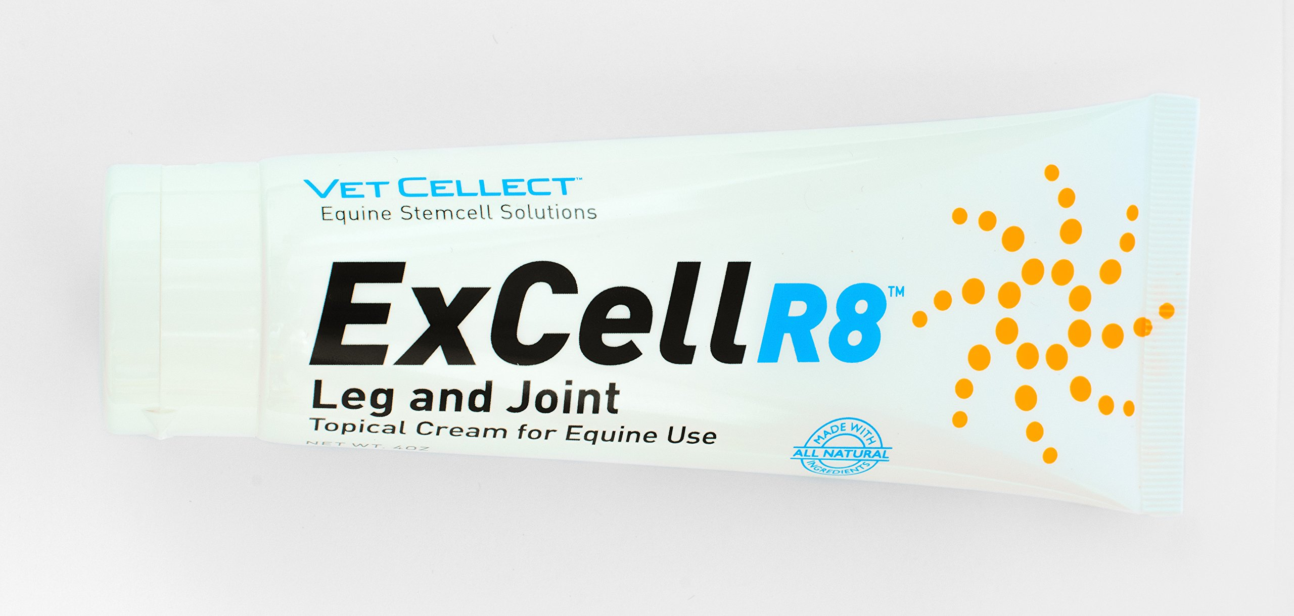 ExCellR8 Horse Leg and Joint Anti Inflammatory Topical Cream for Equine Athletes in a 4 Ounce Tube