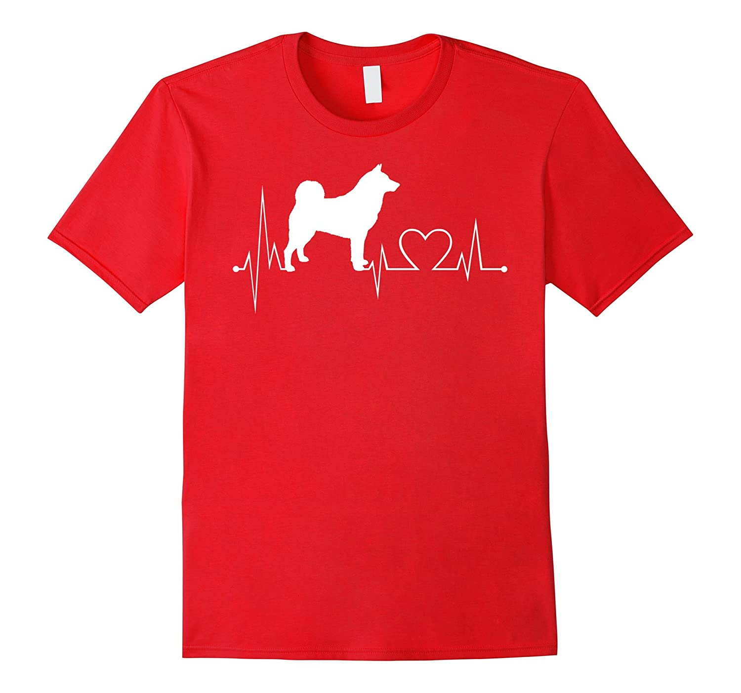 Elkhound-Norwegian-Grey heartbeat - Dog lovers gifts tshirt-Vaci