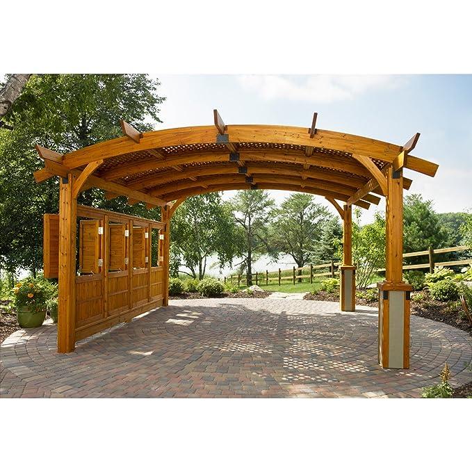 Sonoma arco - Pérgola de madera 16 x 16 pies.: Amazon.es: Jardín