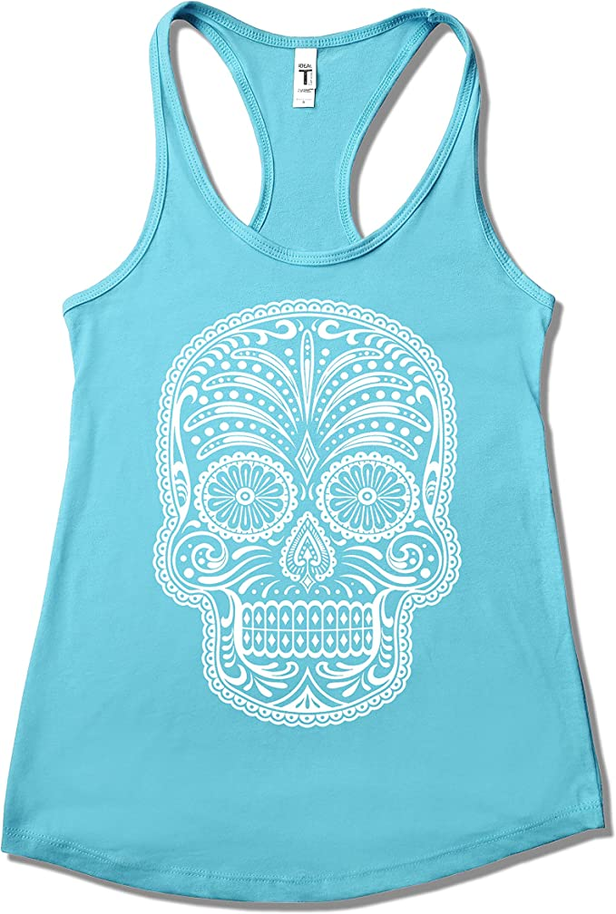 Happy Family Clothing Sugar Skull Calavera Women's Racerback Tank Top