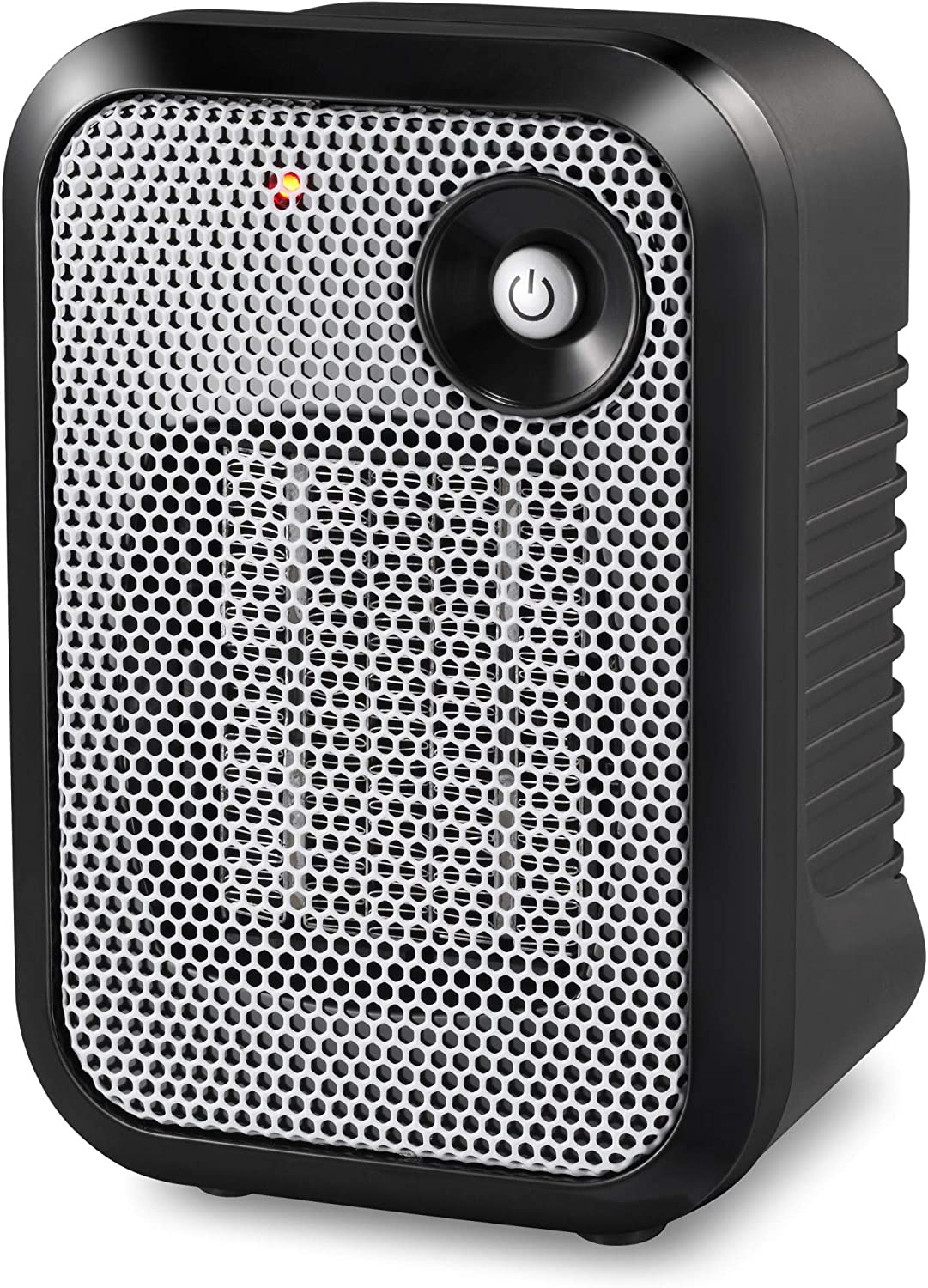 HOME_CHOICE 500 Watt Mini Personal Ceramic Space Heater Electric Portable Heater Quiet for Home Dorm Office Desktop with Safety Power Switch (Silver, 1)
