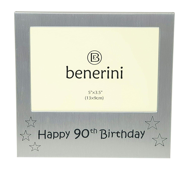 Amazon.com: Happy 90th Cumpleaños Marco de fotos 5