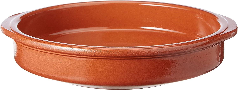 Fackelmann Clásica Cazuela de Barro, cerámica, Marrón, 26x24x5cm