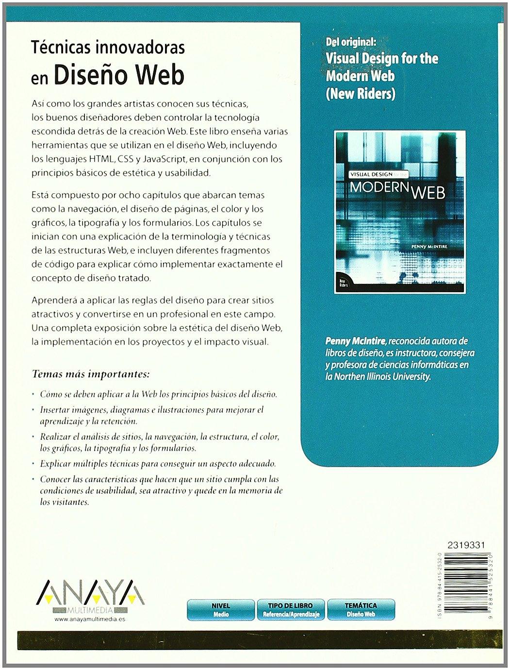 Técnicas innovadoras en Diseño Web Diseño Y Creatividad: Amazon.es: Penny McIntire: Libros