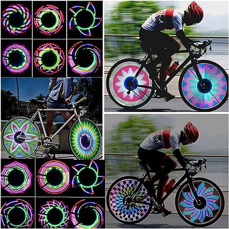 ecyc Colorful 32 tipos de patrón bicicleta luces bicicleta ...