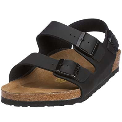 BIRKENSTOCK Milano - Backstrap Sandals - Black - Leather - Regular Width -  Size 39  Amazon.co.uk  Shoes   Bags aa8177f71e9