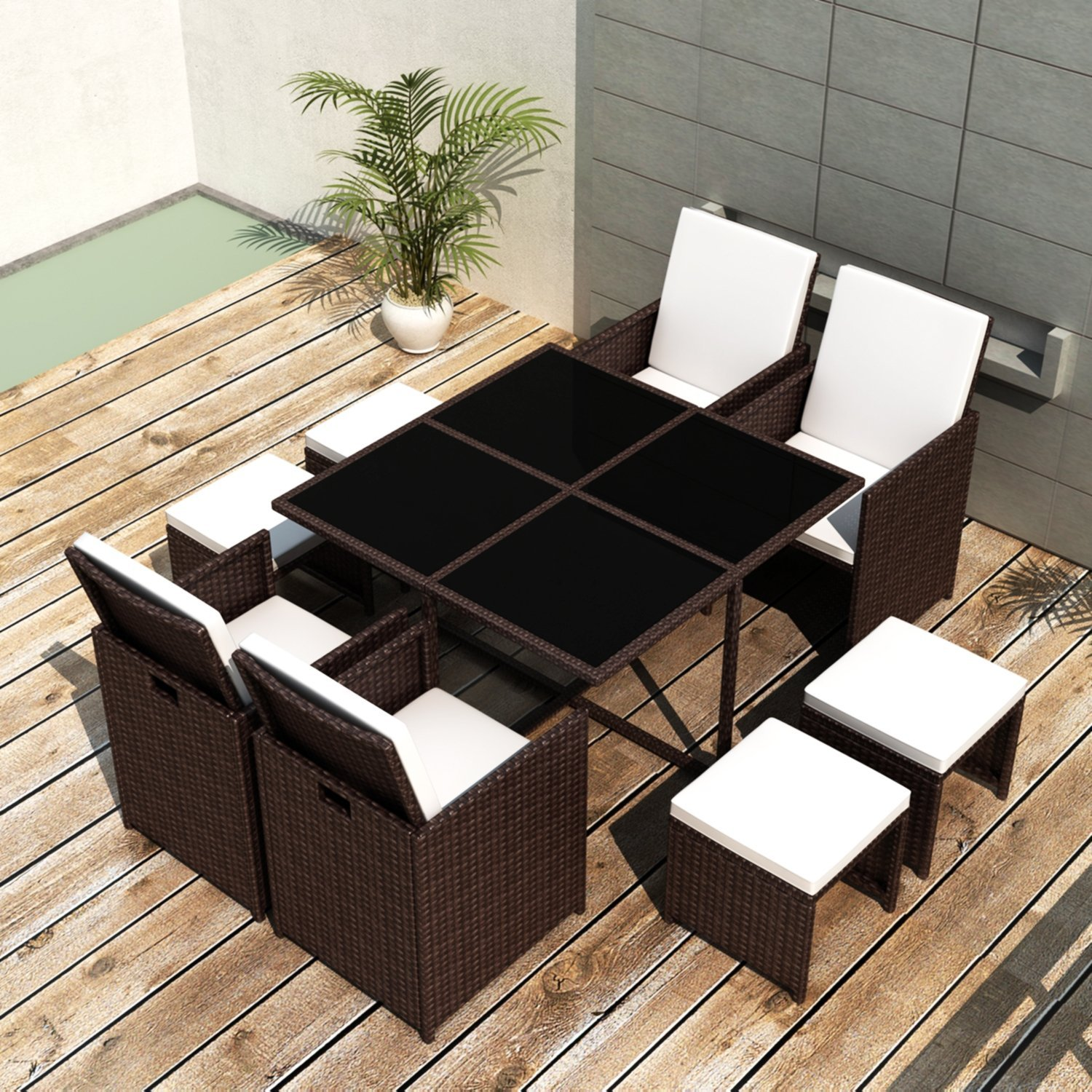 ssitg poly rattan gartenm bel essgruppe gartengarnitur set sitzgruppe sessel lounge g nstig. Black Bedroom Furniture Sets. Home Design Ideas