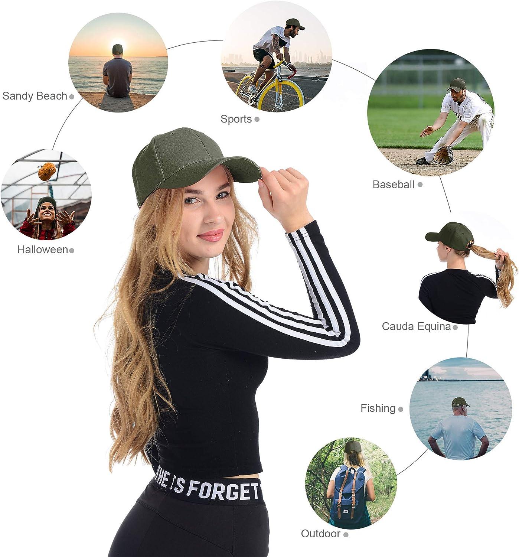 Tinya Baseball Cap Men Women Plain Sports Adjustable Solid Youth Dad Ball Hat