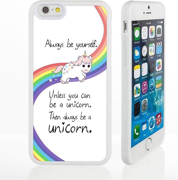 Custodie per iPhone con frasi famose e divertentiCustodie in silicone aderenti, silicone, 4. Unicorn Quote, iPhone 6 /6S Plus