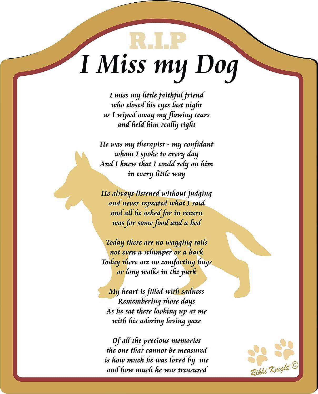 amazon com i miss my german shepherd dog 8x10 male poem