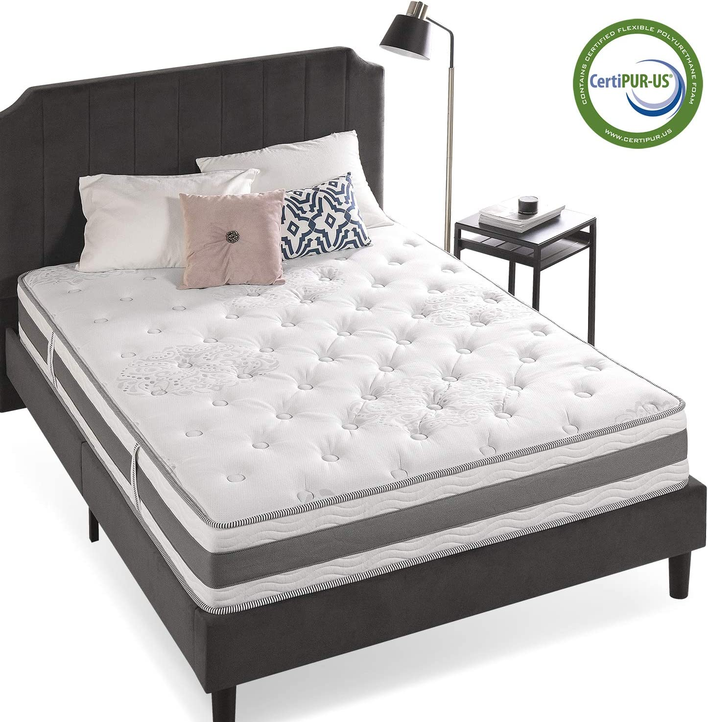Zinus 10 Inch Gel-Infused Memory Foam Hybrid Mattress, King