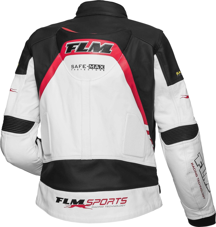 FLM Motorradjacke, Motorrad Kombi Jacke Lederkombijacke 3.0