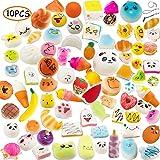 Random 10pcs Slow Rising Kawaii Medium Mini Soft Squishy Toys Panda Buns Cake Bread Cute Face Charm Stress Relief Squeeze Food Phone Straps
