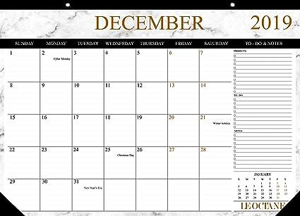 Calendario de escritorio 2019 Planificador mensual 2019 ...