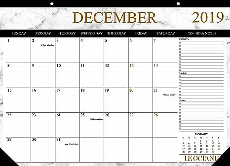Amazon.com: LE OCTANE (2019-2020) Calendario de escritorio ...
