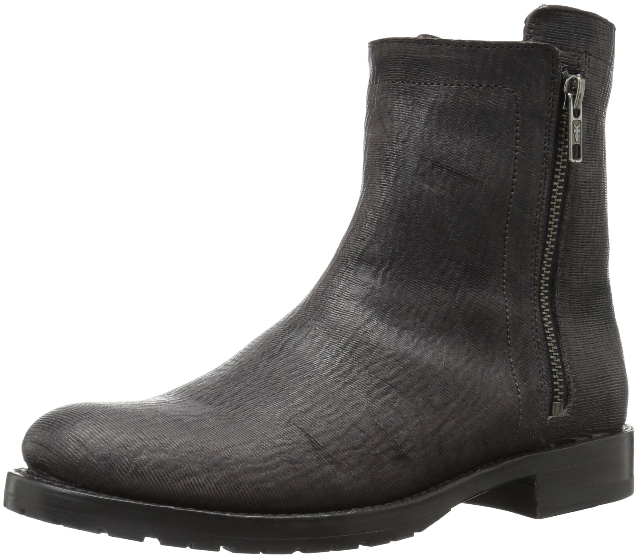 FRYE Women's Natalie Double Zip Boot, Charcoal, 7.5 M US