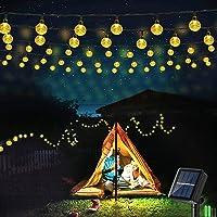Geemoo Lichtsnoeren voor buiten, 9M 60 LED Solar Lichtsnoer Buiten, 8 modi, IP65 waterdicht lichtketting buiten…
