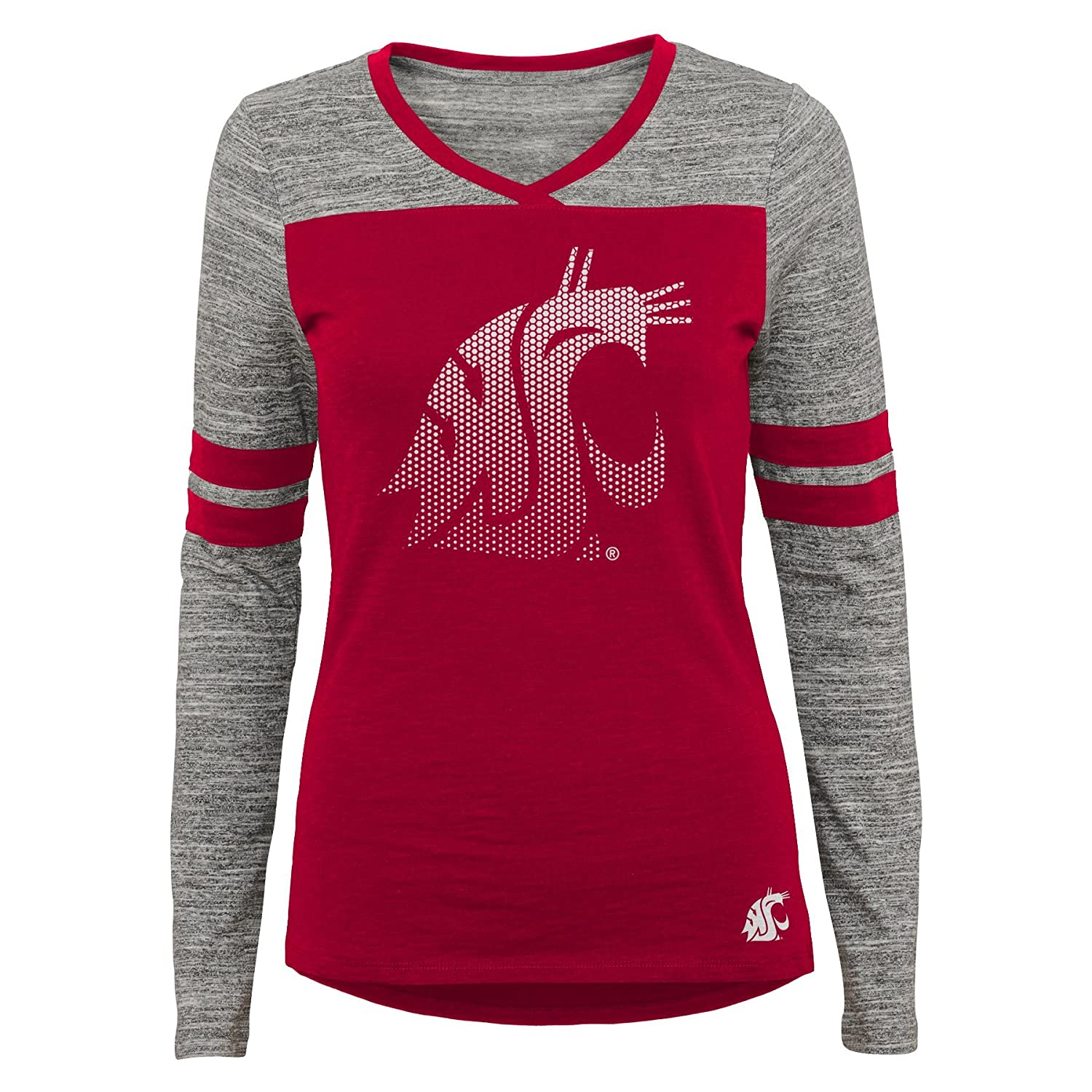 0-1 NCAA Washington State Cougars Juniors Outerstuff Secret Fan Long Sleeve Football Tee Team Color X-Small