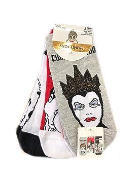 Primark - Calcetines para Mujer, diseño del Mal de Disney, tamaño de la Reina del Reino Unido 4-8, EUR37-42: Amazon.es: Hogar