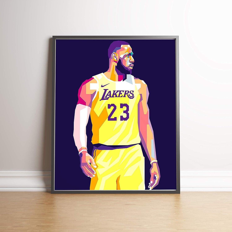 Art Lebron James Art Poster Artwork Nba Art Los Angeles Lakers La Lakers Framed Canv Art Art Posters