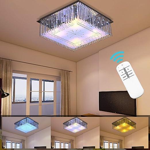 HENGDA Lámpara de techo de 40 W LED, lámpara de araña de ...