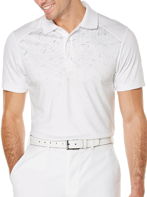 PGA TOUR Mens Printed Rugby Polo Shirt