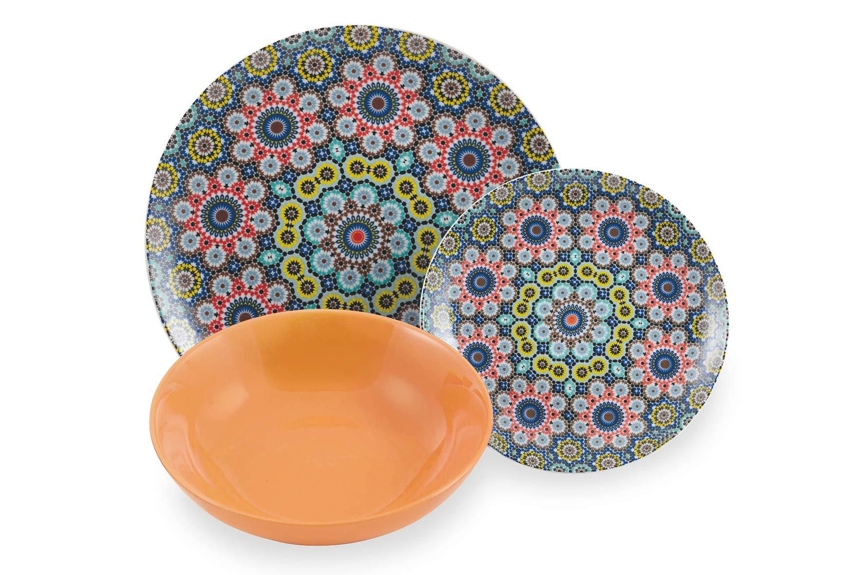 Villa dEste Marrakech Service de table color/é en porcelaine