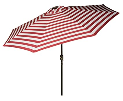 Lighted Umbrella For Patio Adorable Amazon Trademark Innovations Deluxe Solar Powered LED Lighted